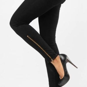 CURRENT/ELLIOT The Cropped Legging w/ Long Zip